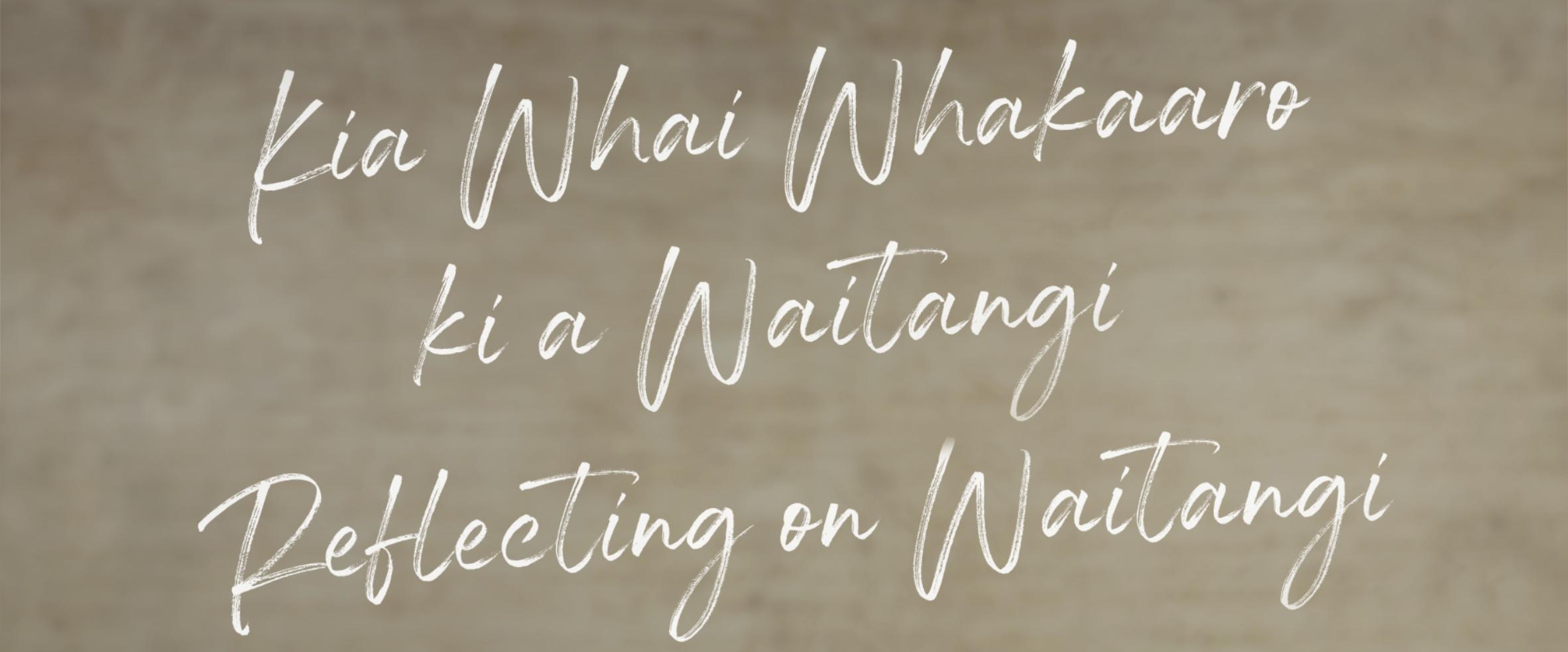reflecting on waitangi